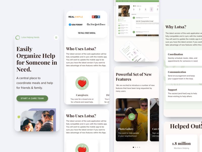 Lotsa Helping Hands mobile ui product design web design minimal interface design web ux ui product mobile