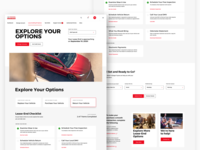 Lease-End Landing Page Concepts webdesign product minimal typography concept interface design web ux ui landing page toyota