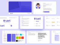 Lori - Brand Identity product web design typography brand identity color branding logo mark brand book styleguide brand design brand