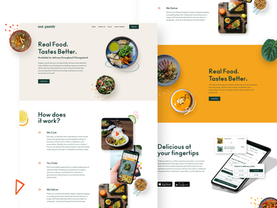 Eat Purely Food Delivery branding web design product minimal typography interface design web ux ui