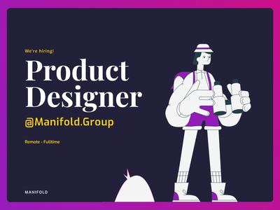 We're Hiring animation illustration typography interface design product mobile webdesign product design ux ui hiring product designer