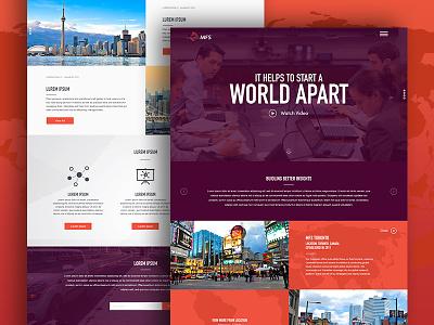 MFS Concept worldly hamburger concept design icons ui web design web