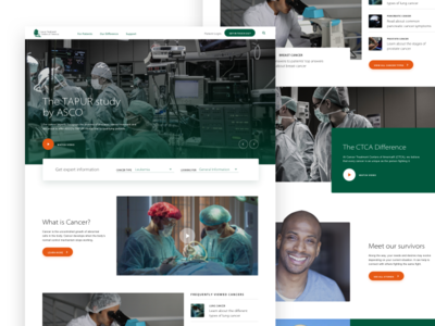 Cancer Center Homepage Design