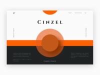 Roman Font Cinzel Landing Page