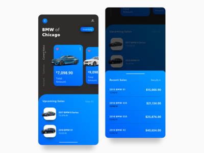 BMW Dealer Inventory Concept mobile branding color product typography interface design web ux ui portal sales inventory app concept bmw