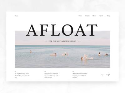 Afloat Digital Publication Landing Page publication design publication website responsive branding color web design product minimal typography interface concept design web ux ui