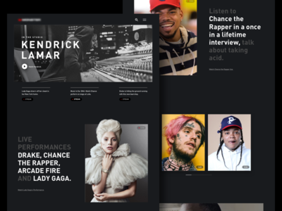 Music Platform responsive minimal color web design product typography interface concept design web ui music steam streaming