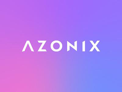 Azonix Wordmark illustration design wordmark vector valiant