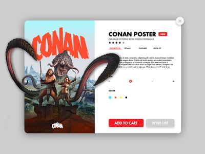 CONAN Poster & UI Design minimal ux website design web ui illustration