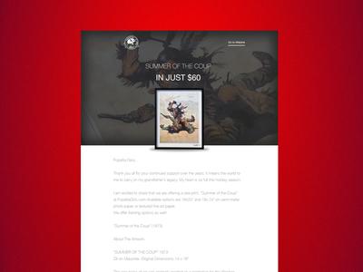 Email design for Frank Frazetta e-commerce web minimal branding typography web design