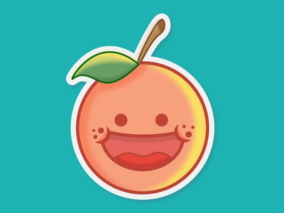 Happy Orange Sticker