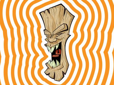 Tiki illustration branding illustration design vector