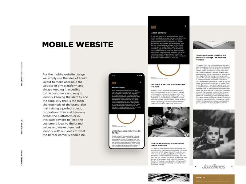 Mobile Website Presentation icons ui ios graphic design brand clean type flat app identity illustrator minimal ux vector icon web branding design mobile website