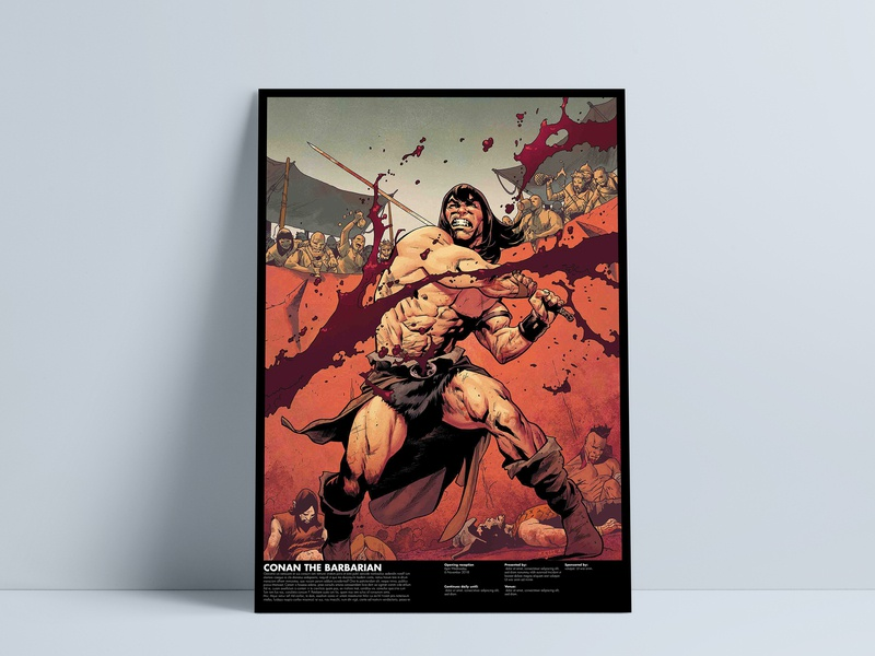 CONAN THE BARBARIAN poster identity ios clean mobile art character animation logo app ui ux website typography web icon vector branding minimal illustration design