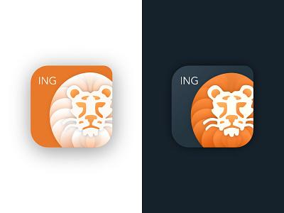 Daily UI Challenge 05: App Icon — ING Bankieren Icon Redesign icon mobile ing dutch netherlands banking dailyui ui digital illustration affinity designer vector