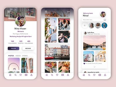 Daily Ui Challenge 06: User Profile - Social Media profile mobile design mobile app ios app photo socialmedia social dailyuichallenge ux ui dailyui art affinity designer vector