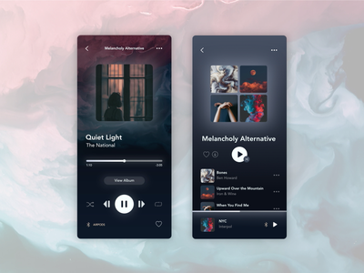 Daily UI Challenge 09: Music Player 🎵🌕☀️