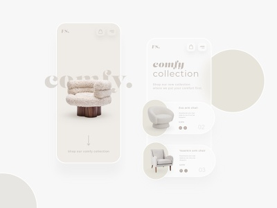 Furniture webshop app concept branding design webdesign futuristic luxury logo luxury design luxury modern 3d mobile app design shadow beige furniture design furniture store furniture app mobile app mobile ui ux ui