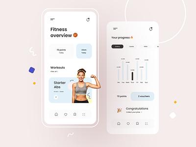 Womens fitness app women modern health sport app fitness mobile ui ux