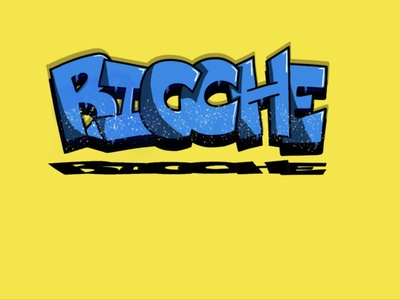Ricche Graffiti illustration logo digital illustration freehand graffiti digital lettering vector graffiti art digital art