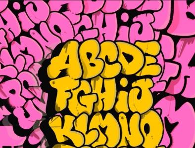 Ricche Alphabet #2 design vector logo illustration graffiti digital graffiti art lettering freehand digital illustration digital art