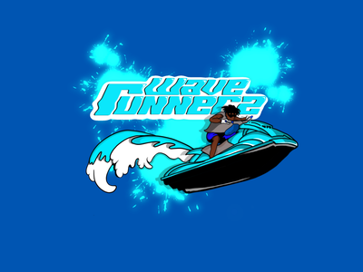 Wave Runnerz Rocket P design illustration vector logo freehand digital illustration digital art