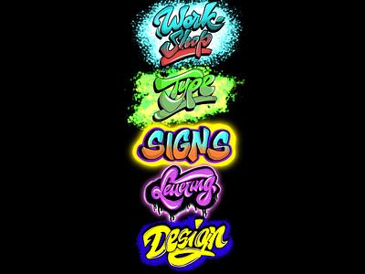 Freehand lettering vector logo illustration freehand digital art
