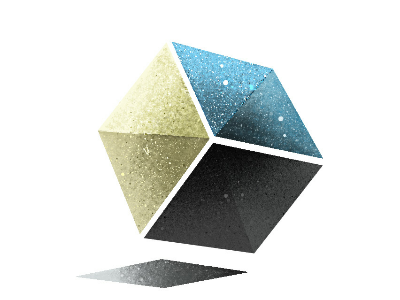 CubeSpace Illustration cubic square logo illustration space cube