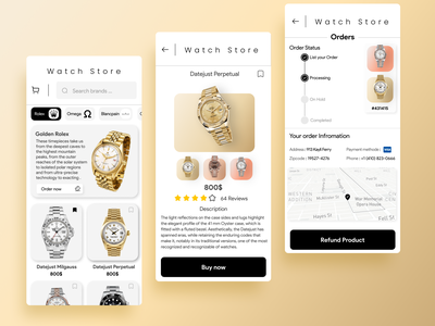 Online Watch Store Concept ⌚ uidesign online shopping store design watch shop design ui figma design figma online store online shop online shopping app shop shopping shopify watches store app stores watch store watch