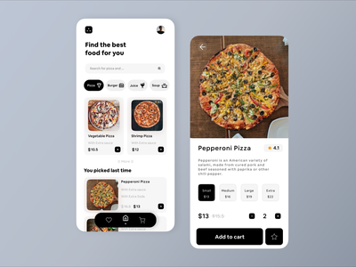 Online Food Shop Concept 😍🍔🍕 app design food service food apps uiux food app ui food store pizza pizza box pizza app restaurant online shop food shop food and drink food app food app ui ui figma design figma design