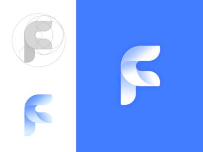 Faceui logo fu vi u f face ui icon logo