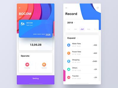 Bankcard2 clorful record ui ue iphonex ios card wallet bankcard app