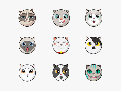 Day 004 - Cat Stickers