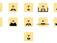 Moustache emojis complete