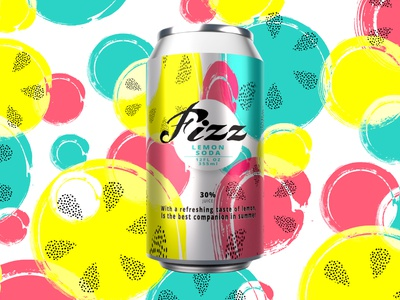 Fizz -  packaging design can packaging can packaging designer logo packaging design graphic design design