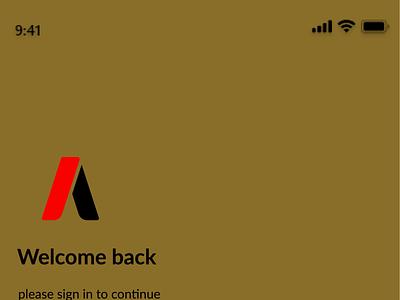 App Login and Sign up Screen typography logo design iphone figma vector branding