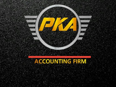 PK Associates website web flat logo design minimal