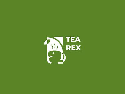 Tea Rex Logo Design branding concept logo design branddesign brandidentity logodesign branding logo cup trex dinosorur dino t rex tea