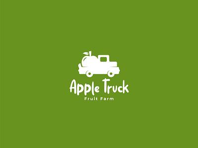 Apple Truck Logo Design illustration design branding concept logo design branddesign brandidentity logodesign branding logo agri agribusiness agriculture farm fruit truck apple