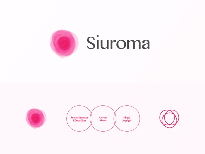 Siuroma | Brand Logo Design essential oil floral siuroma branding logo design