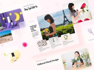 Siuroma | Branding and Website Design siuroma website natural floral essential oils lavender branding logo illustration design