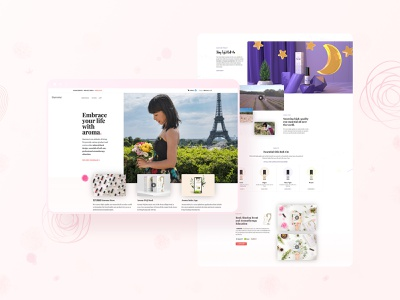 Siuroma | Branding and Website Design aromatherapy floral natural siuroma essential oils branding illustration design
