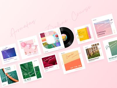 AromaFAQ | Book Design & Online Course floral natural essential oils aromafaq aromatherapy audio cover cd cover book branding design