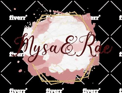 Mysa and Rae feminine logo logo brand identity signature logo watercolor