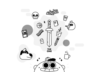 the one illustration vector illustrations ilustracion illustrator