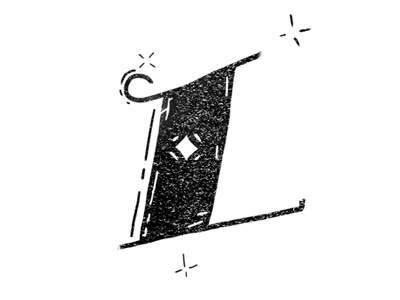 """""""L"""" typeface gdl mexico lettering type."""