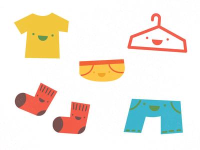 Kids Stuff hanger tee short pants underwear kids