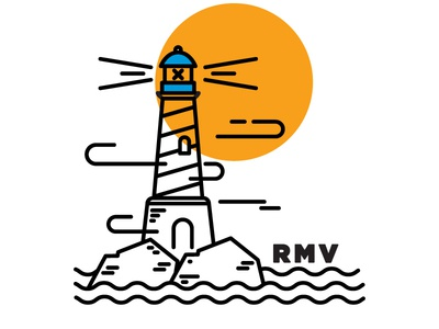 Lighthouse  sea icon illustration lighthouse