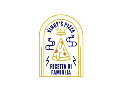 Vinny's ricetta bi famiglia vintage icon sticker badge pizza