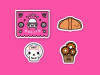 día de muertos stickers.